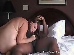 Красивая толстуха и черный член